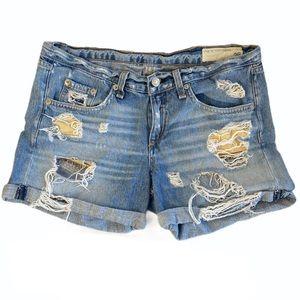 Rag & Bones Denim Distressed Shorts